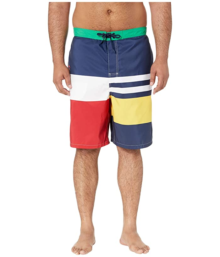 ebe0c9d6d4 Polo Ralph Lauren Big & Tall Big Tall Kailua Swim Trunks (Boating Stripe)  Men