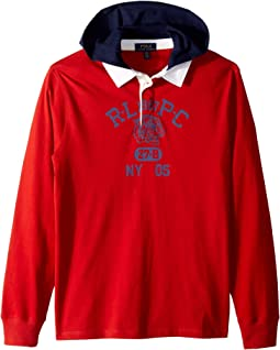 Cotton Jersey Hooded Rugby (Big Kids)