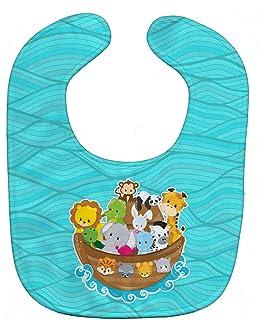 Caroline's Treasures Baby Bib, Noah's Ark, Large