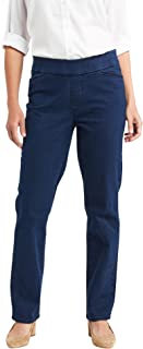 Chic Classic Collection Women`s Easy-fit Elastic-Waist Pant