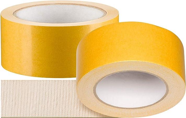 50mm x 25m Doppelseitiges Klebeband Beidseitiges Verlegeband Teppichband
