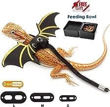 BELLISSI Lizard Leash with Wings Bearded Dragon Leash 3 Pack Reptile Harness Adjustable Leopard Gecko Leash Accessories Supplies