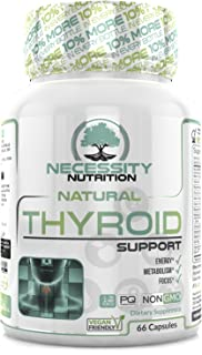 Thyroid Support Supplement Complex 66 Capsules - Boost Energy, Metabolism, Brain Function & Focus | Natural Weight Loss Formula | Non GMO - Contains Iodine, Vitamin B12, Zinc, Ashwagandha and Selenium