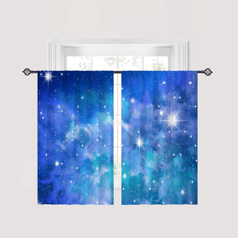 ANHOPE Galaxy Curtains Rod Pocket Darkening Curtai Bargain sale Room Max 50% OFF Blackout