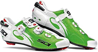 Sidi Wire Carbon Air Road Cycling Shoes - Green Fluo/White (43 EUR [US 9])