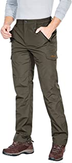 Nonwe Men's Snow Skiing Pants Insulation Softshell Water Resistant with Pockets