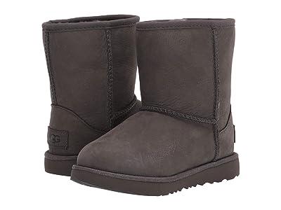 UGG Kids Classic Short II Waterproof (Toddler/Little Kid) (Grey) Girls Shoes
