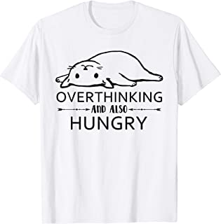 Overthinking And Also Hungry Funny Cat Tshirt Cat Lover Gift