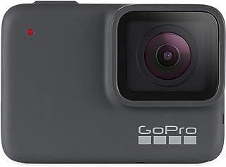 GoPro HERO7 - Cámara de acción digital impermeable con funda y cordón (reacondicionado), pantalla de 1.95, color gris, Cám...