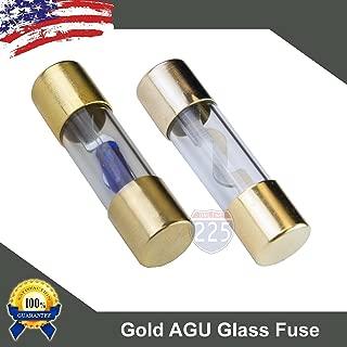 5 Pack 50 AMP Gold AGU Glass Fuse 50A Car Truck Boat Marine RV