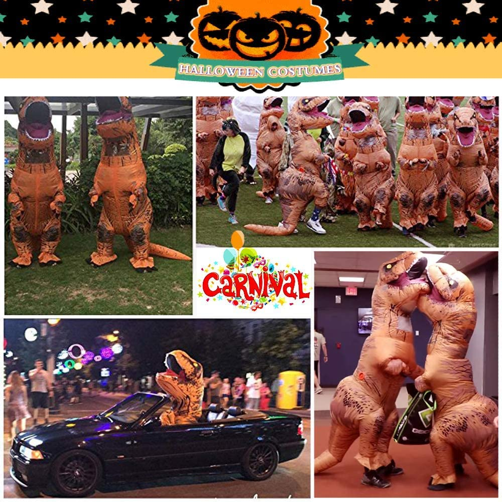 JASHKE Traje Inflable Flamenco Traje Disfraz de Halloween Traje FUUNY Carnaval Disfraz Adulto