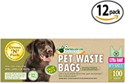 Green N Pack Extra Large Dog Waste Bags (Heavy Duty Solution), Premium Pick-Up Bags