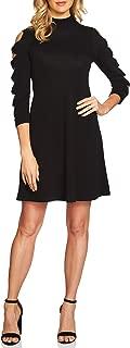 Women's Cotton Bow-Sleeve Sweater Dress Rich Black XL