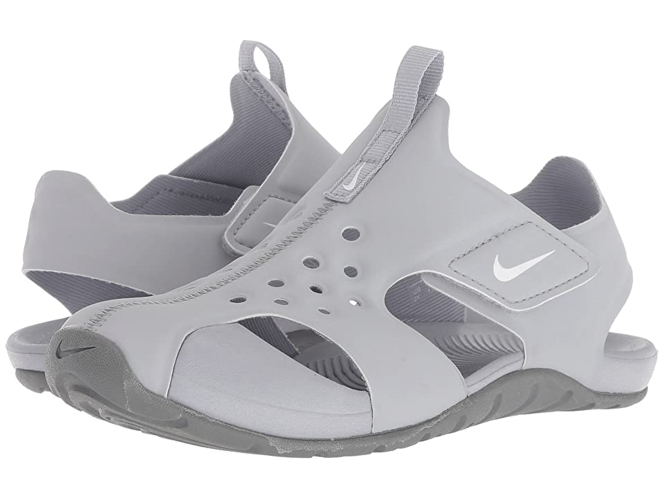Nike Kids Sunray Protect 2 (Little Kid) (Wolf Grey/White/Cool Grey) Boys Shoes
