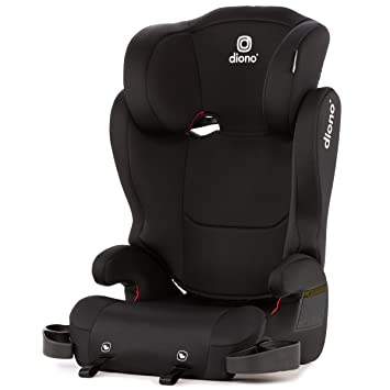 Diono Cambria 2 Latch, 2-in-1 Belt Positioning Booster Seat, High-Back to Backless Booster XL Space and Room to Grow, 8 Years 1 Booster Seat, Black: image