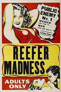 Reefer Madness Adults Only Marijuana Propaganda Movie Cool Wall Decor Art Print Poster 12x18