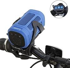Portable Bluetooth 4.0 Speaker by CLEARON – Wireless Waterproof Speaker with Bike Mount & Remote – Premium Sound Quality & Loud 8W Mini Speaker – 15 Hours of Playtime & 100 ft Range (Blue)