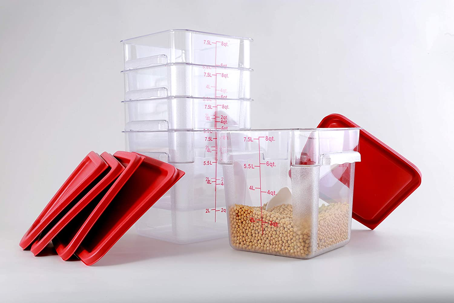 Hakka Sale Special Price 8 Qt Commercial Max 59% OFF Grade Storage Food Square with Containers