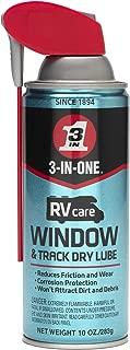 3-IN-ONERVcare Window & Track Dry Lube with SMART STRAWSPRAYS 2 WAYS, 10 OZ [6-Pack]