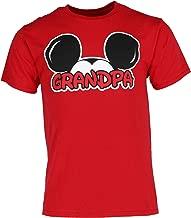Disney Adult Plus Size Mens T-Shirt Grandpa Family Tee Red