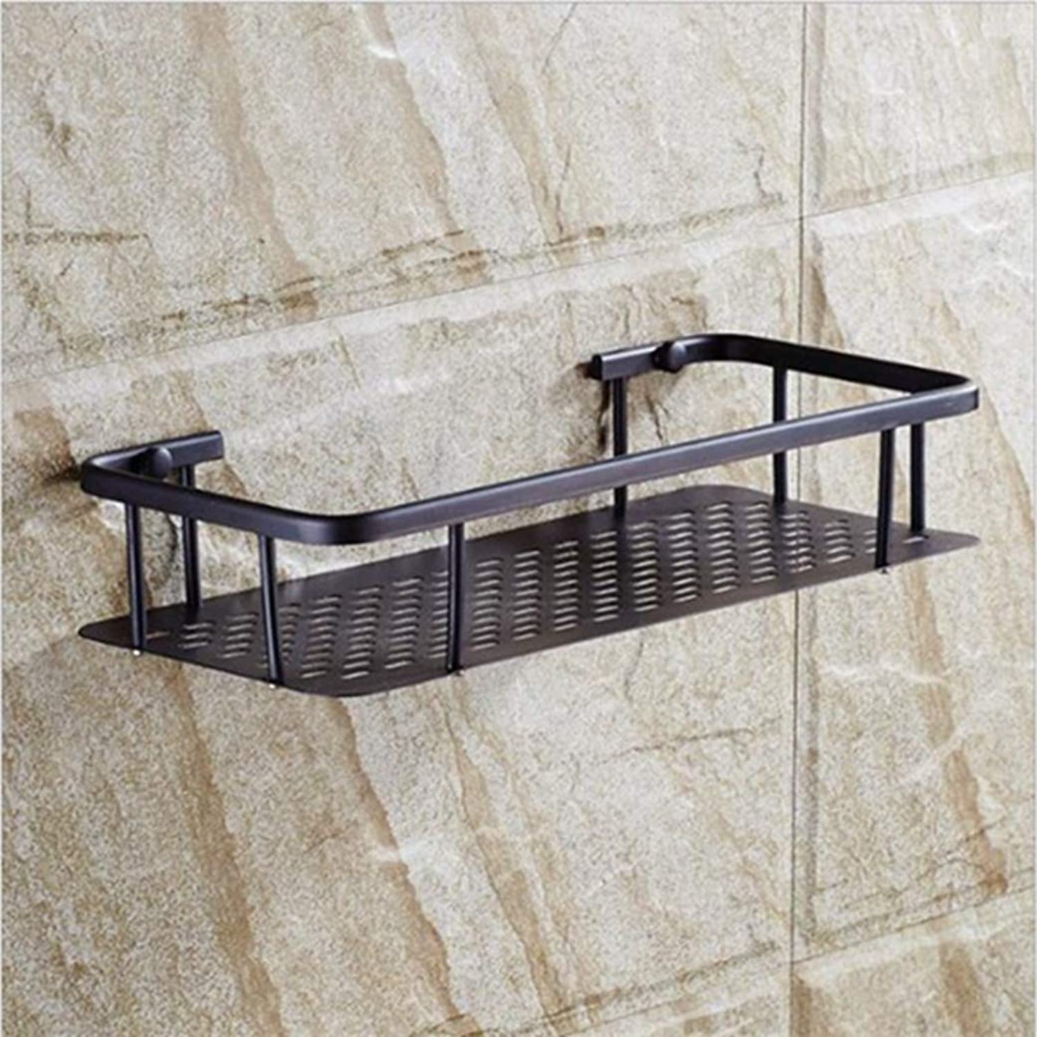 LUDSUY Bathroom Accessories Brass Antique Bronze Double Tiers Bathroom Shelves Basket Holder Bathroom Soap Holder Bathroom Shampoo Shelf