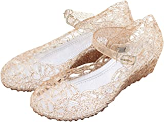 b1be2872d03 Vokamara Princess Girls Sandals Jelly Mary Jane Dance Party Cosplay Shoes  for Kids Toddler