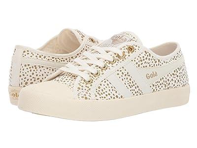 Gola Coaster Metallic Cheetah (Off-White/Gold) Women