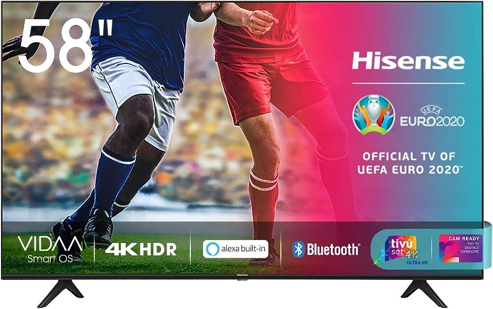 Hisense televisore smart tv led ultra hd 4k 58