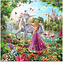 5D Resin Diamond Princess and Unicorn Design Embroidery Painting DIY Kit