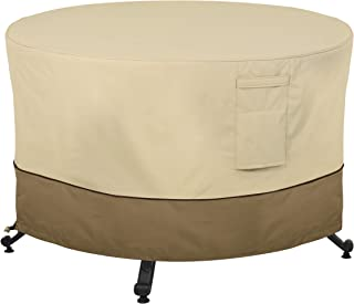 Classic Accessories Veranda Water-Resistant 56 Inch Round Fire Pit Table Cover