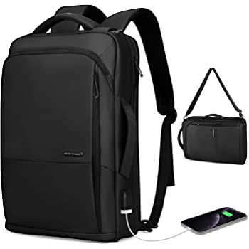 Markryden slim Laptop Backpack 3in1 backpack with USB Charging Port Water-Resistant School Travel Work Bag Fits 15.6 Inch Laptop