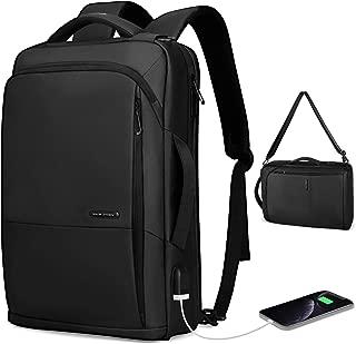 Markryden multi-function Laptop Backpack slim 3 in1 Business handBag shoudler bag with USB Charging Port Water-resistant School Travel Work rucksack Fits 15.6 Inch Laptop