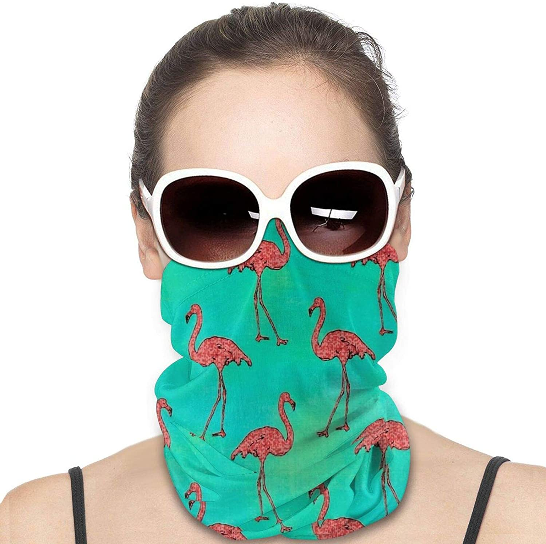 Kaufman Beach Divas Flamingos Neck Gaiter Windproof Face Cover Balaclava Outdoors Magic Scarf Headband for Men Women Motorcycling Fishing Running Climbing
