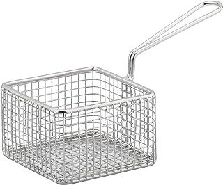 Sunnex MCWW-1010 Professional Wireware Square Basket, 9.5 x 9.5 x 6 cm, Silver, Stainless Steel