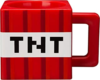 JINX Minecraft TNT Block Square Plastic Mug, Red, 9.8 ounces