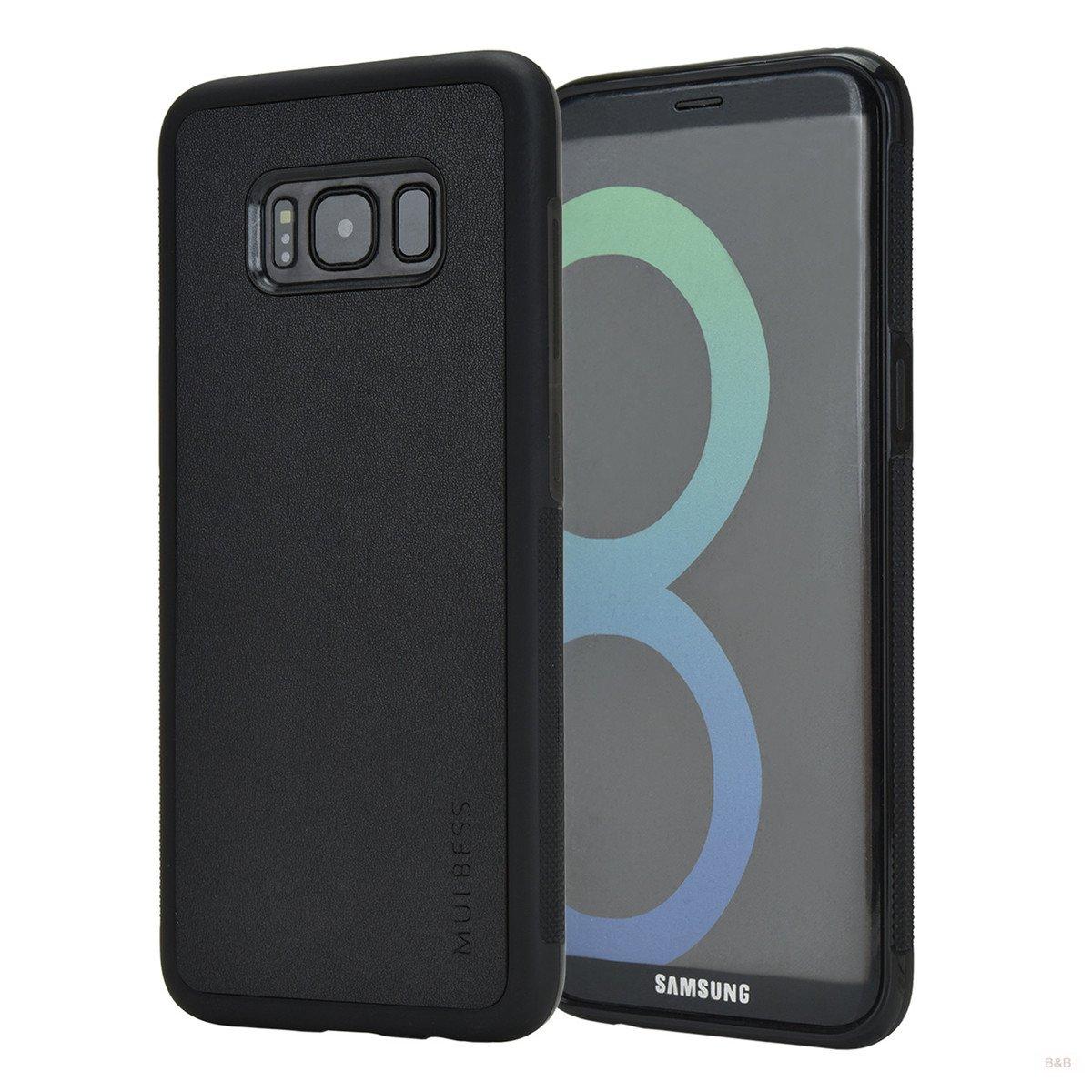 Mulbess Funda Samsung Galaxy S8 Plus Cuero Silicona TPU Suave Carcasa para Samsung Galaxy S8 Plus, Negro: Amazon.es: Electrónica