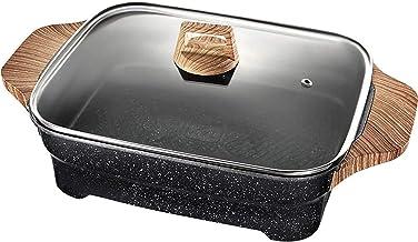 Grill électrique portable, Barbecue multifonctions chaude, maison multifonction 8L grande capacité non-bâton sans fumée wo...