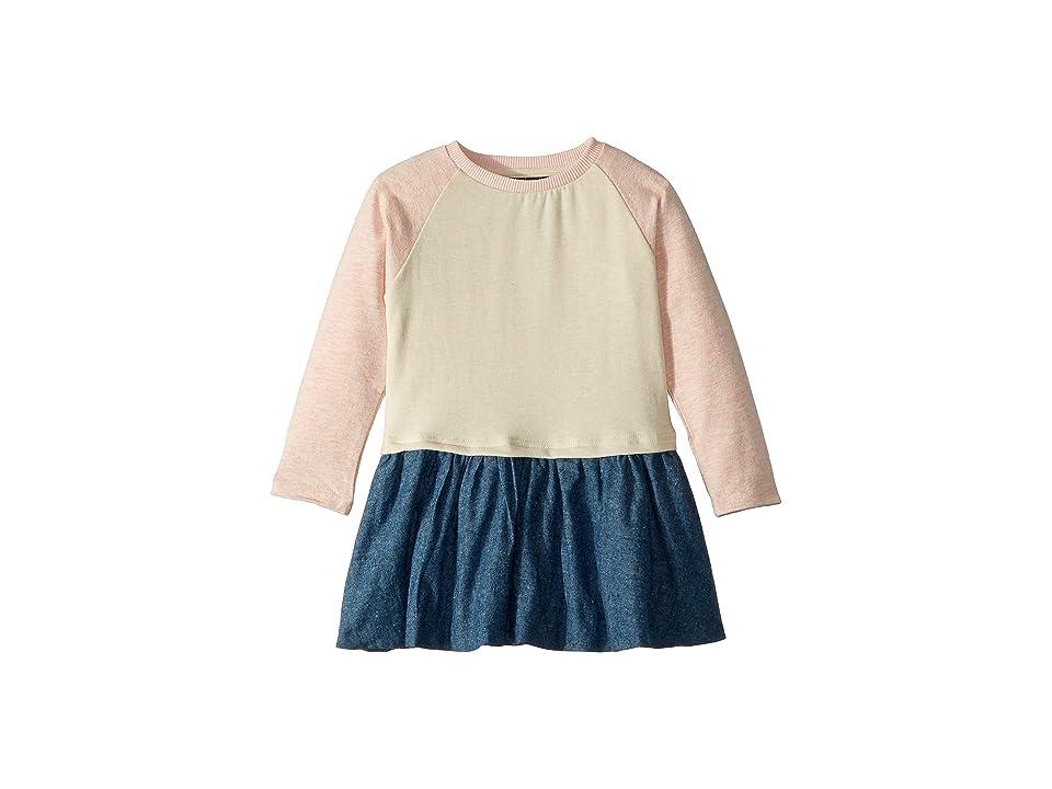Toobydoo Denver Jersey Knit Dress (Toddler/Little Kids/Big Kids) (Pink Chambray) Girl