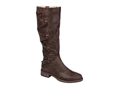 Journee Collection Carly Boot Wide Calf (Brown) Women