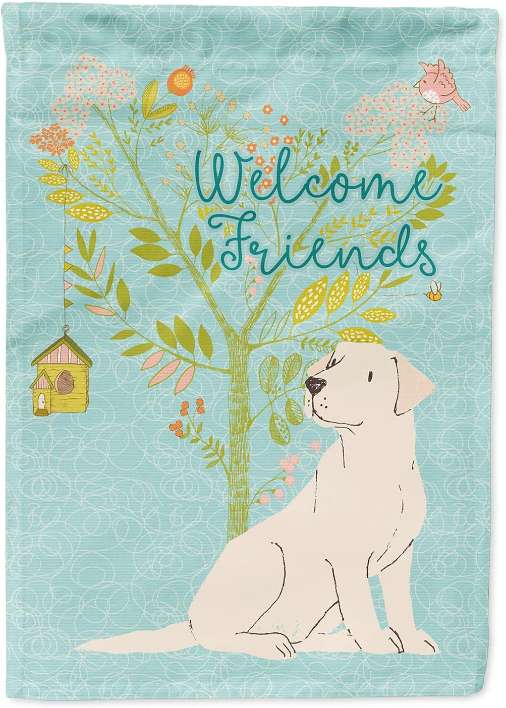 Caroline's Treasures BB7596GF Welcome Yellow Friends Re We OFFer at cheap prices Labrador Ranking TOP9