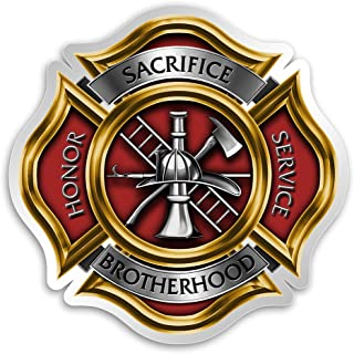 Collectible Firefighter Decals (4in,2pack), Share Your Appreciation and Support with Our Firefighter Pikes Stickers for Yo...
