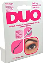 Duo Water Proof Eyelash Adhesive, Dark Tone 1/4 oz (Pack of 4)