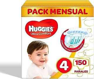 Pañales para bebé Huggies Ultra Comfort, talla 4 (7-18 kg), 150 unidades
