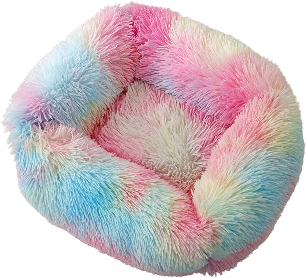 Vxkbiixxcs-o Small Dog Warm Cave Fluffy Plush Soft Shipping included Pupp New Orleans Mall Colorful