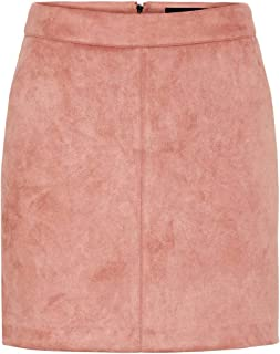 Vero Moda Vmdonnadina Faux Suede Short Skirt Noos Gonna Donna