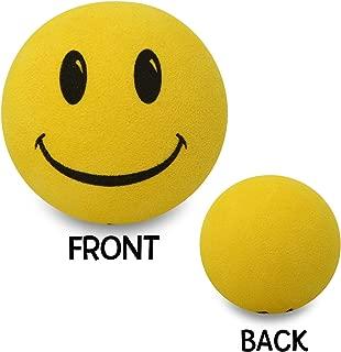 Tenna Tops Happy Smiley Face Car Antenna Topper/Antenna Ball/Rear View Mirror Dangler/Desktop Spring Stand (Yellow)