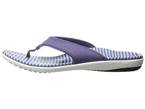 Stripe Canvas Spenco Spenco Stripe Canvas AmethystBlushPowder OxIYnnEqUw