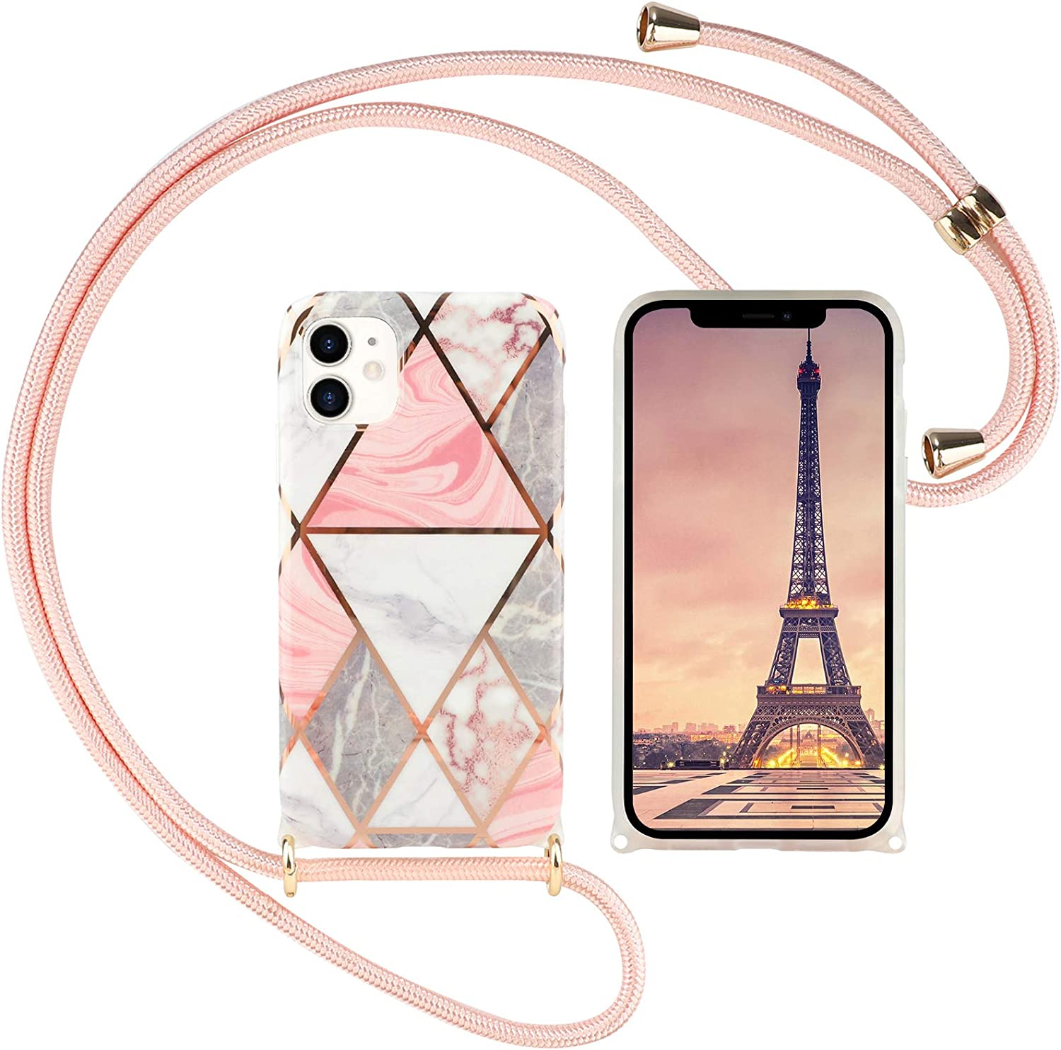 Herzzer For iPhone X XS Girly Crossbody with New products Max 69% OFF world's highest quality popular Plating Case Strap
