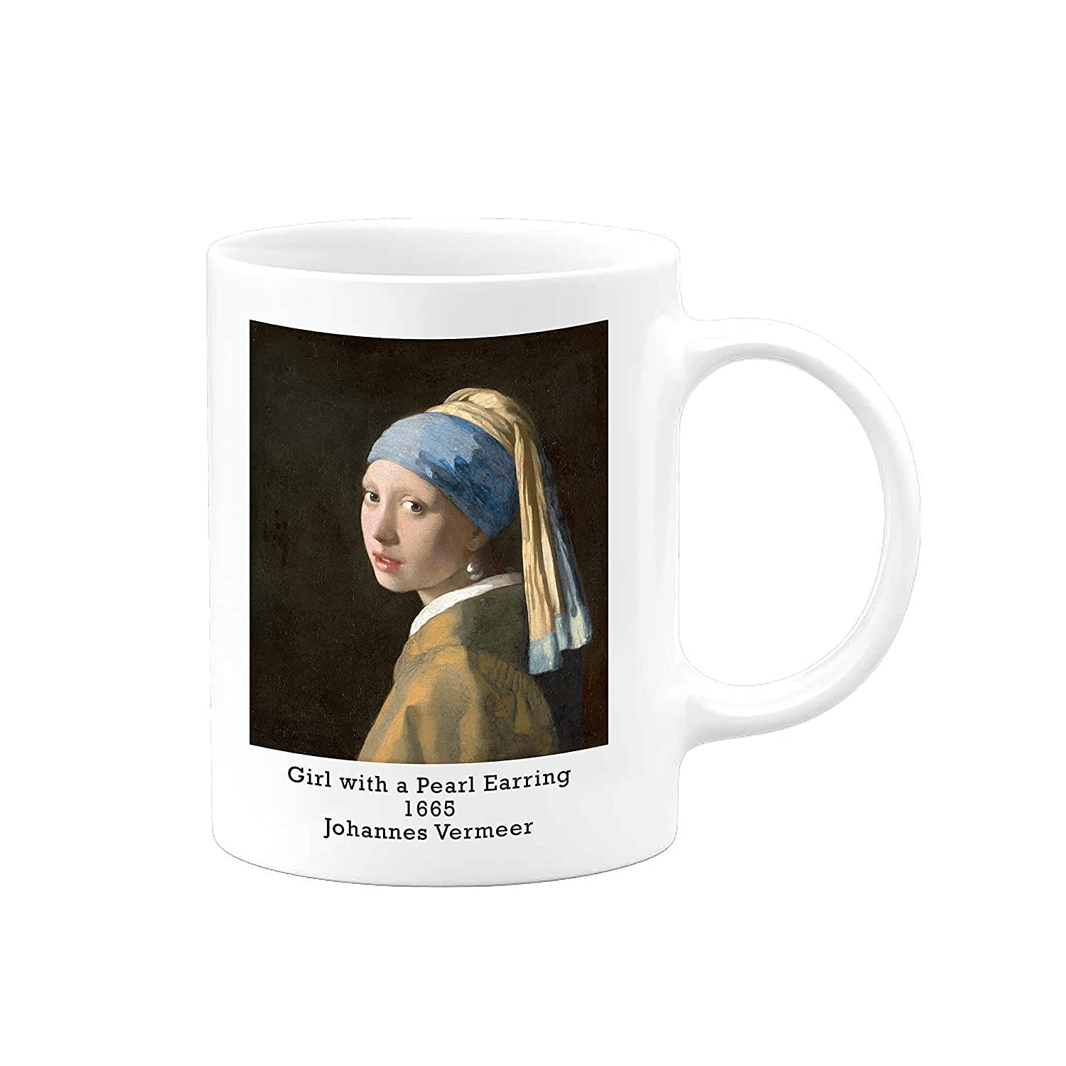 Famous Painting Novelty Coffee Mug Vermeer Girl Bombing free shipping Johannes Wit We OFFer at cheap prices