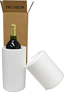 Wine Shipping Boxes & Foam - 1 Bottle (6 Boxes, 6 Foam Containers)